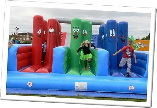 Children's teams on an It's A Knockout event