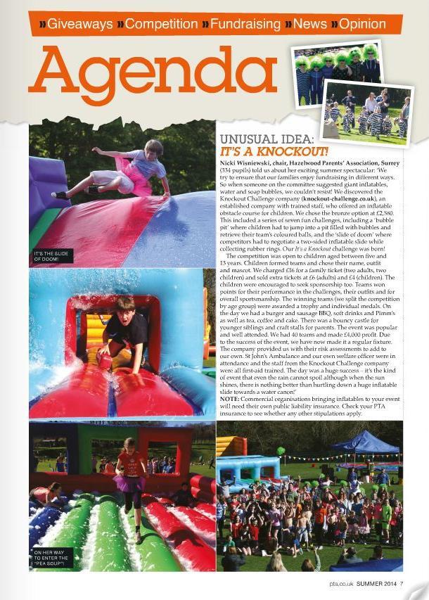 PTA Magazine article