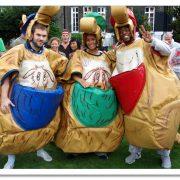 A Sumo costume dressing up It's a knockout game