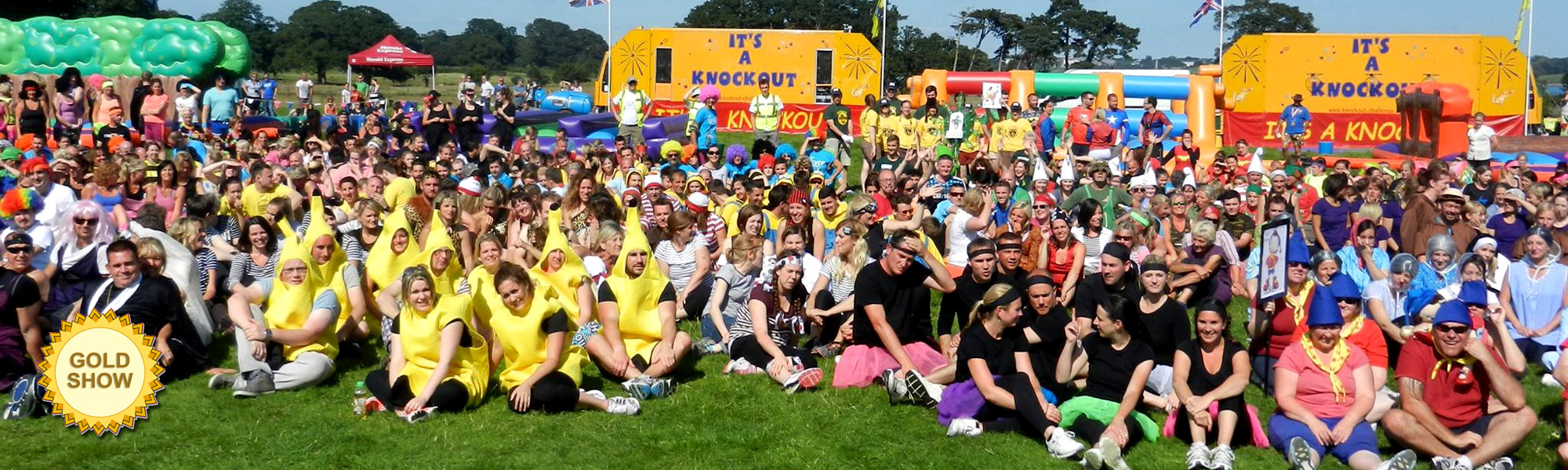 The teams on a charity fund raising It's A knockout