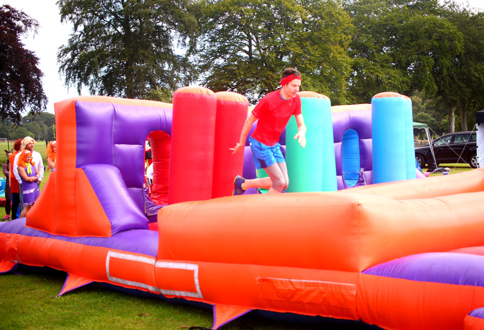 Charity inflatable game