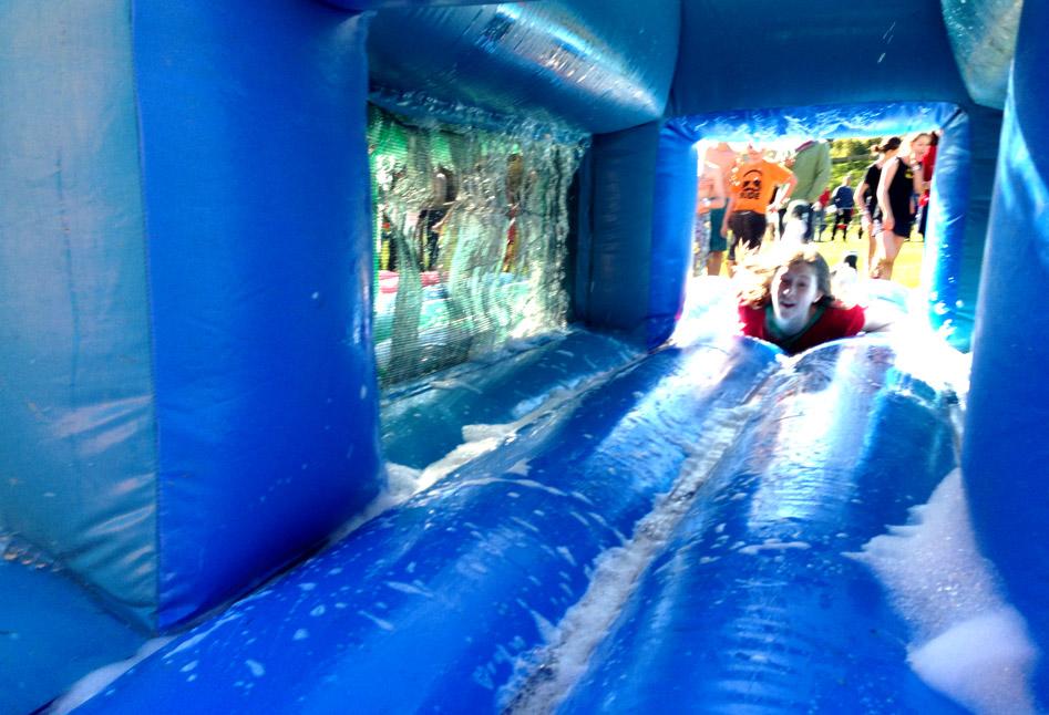 Sliding through the bubbles