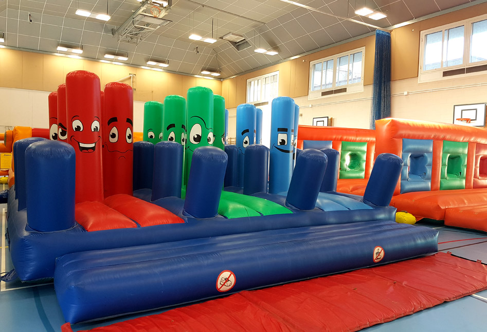 An indoor It's A Knockout