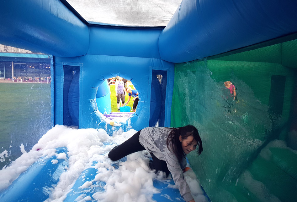 The inflatable Bubble Cave on our Silver Show