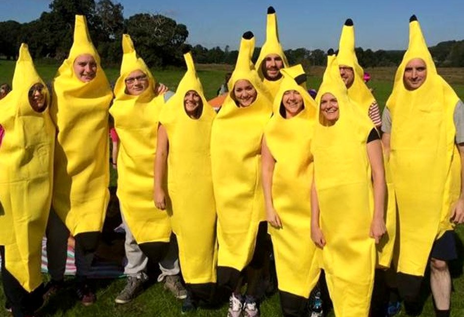A fancy dressed team of Banana's