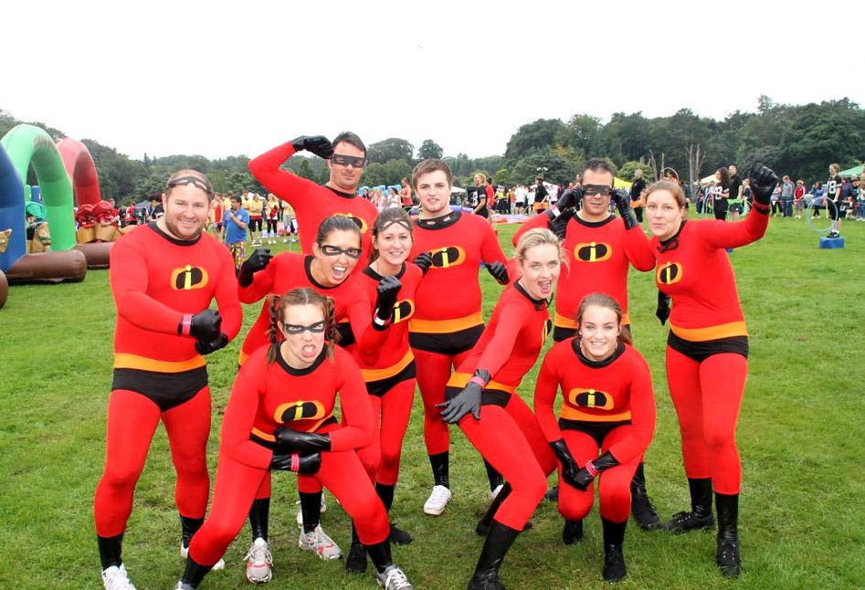 A fancy dressed team from Aberdeen