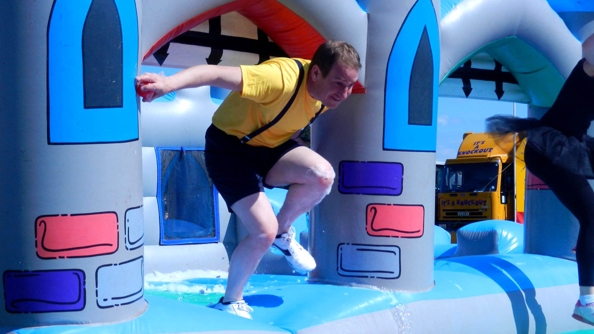 The Castle Chaos bubble inflatable game