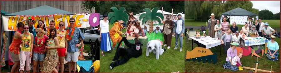 Fancy-dress team gazebos