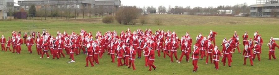 The Santa Run warm-up