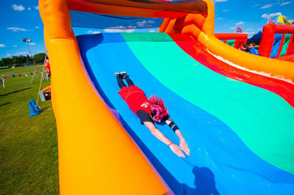 The Slide Dive Game on the Bronze Show