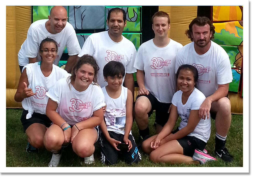 A team on the Mini It's A Knockout