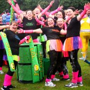 A team from a charity It's A Knockout event