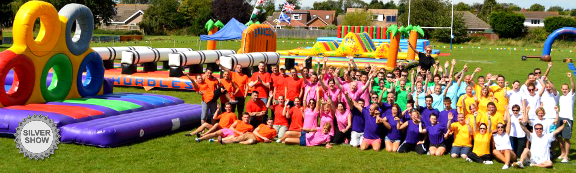 The teams on a company funday It's A Knockout