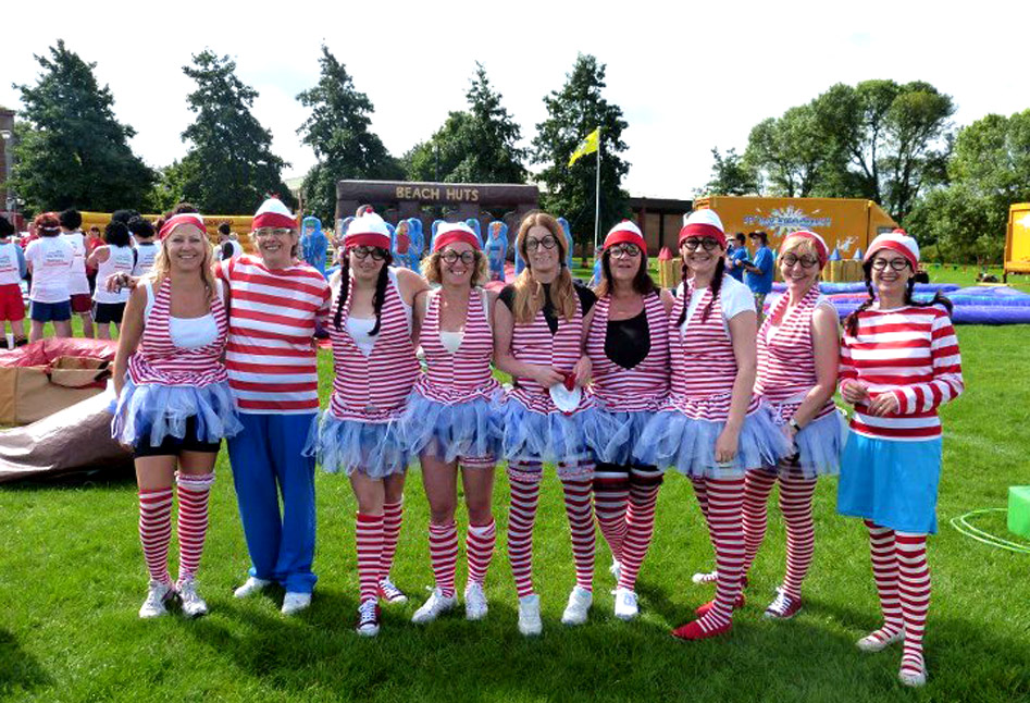 A Where's Wally team