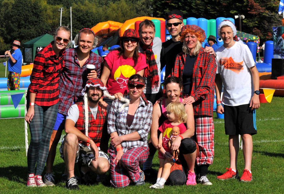 A charity It's a knockout team