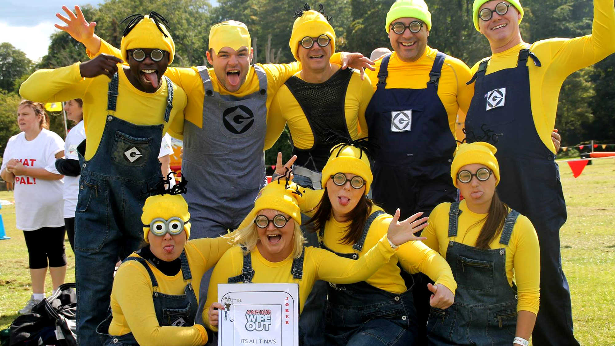 A Minion fancy dressed charity It's A Knockout team